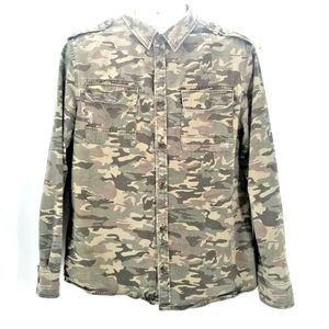 Carbon Mens Size Large Camouflage Jacket
